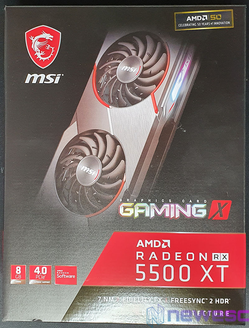 REVIEW MSI RADEON RX 5500 XT GAMING X CAJA