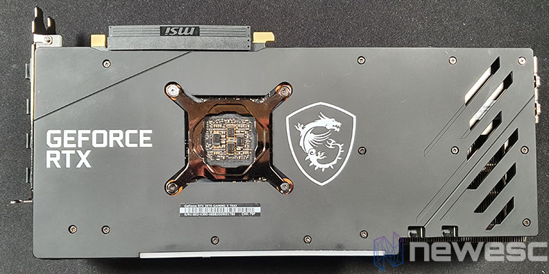 REVIEW MSI RTX 3070 GAMING X TRIO BACKPLATE