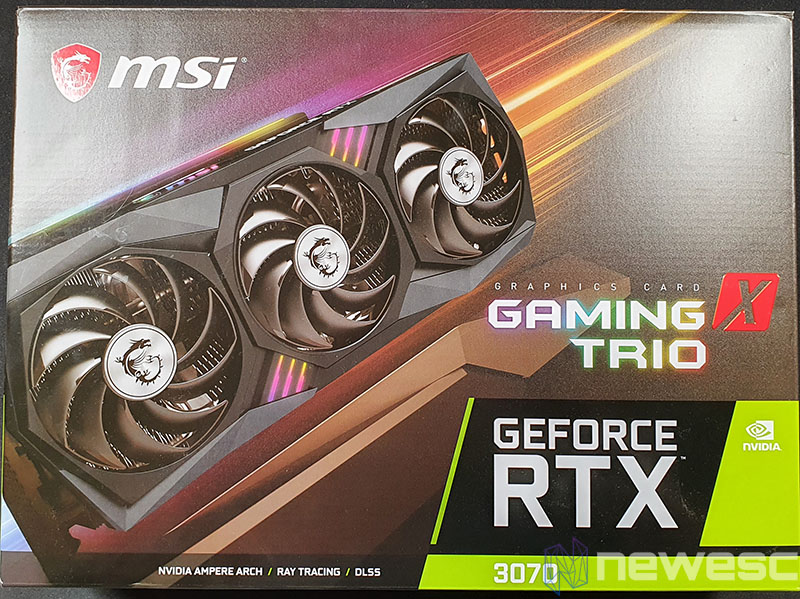 REVIEW MSI RTX 3070 GAMING X TRIO CAJA FRONTAL
