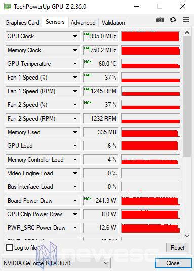REVIEW MSI RTX 3070 GAMING X TRIO GPUZ