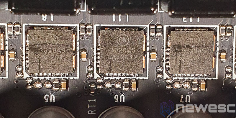 REVIEW MSI RTX 3070 GAMING X TRIO MOSFETS