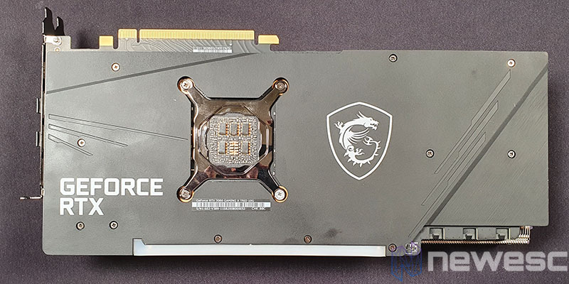 REVIEW MSI RTX 3080 GAMING X TRIO TARJETA DESDE BACKPLATE