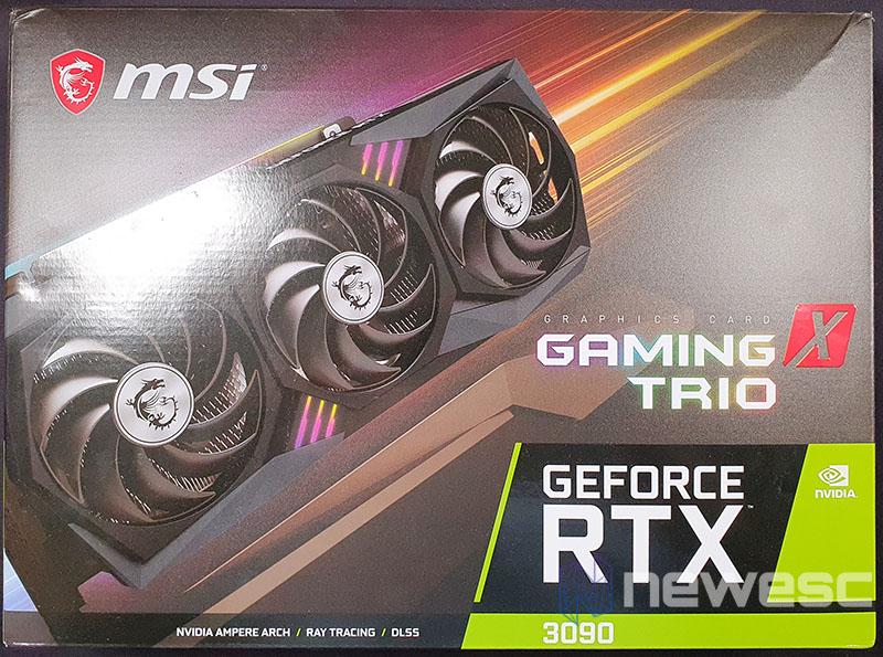 REVIEW MSI RTX 3090 GAMING X TRIO CAJA DELANTE