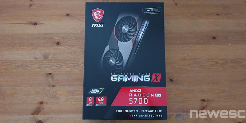 REVIEW MSI RX 5700 GAMING X CAJA DELANTE