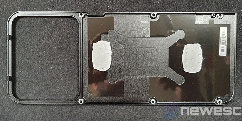 REVIEW NVIDIA RTX 3060TI backplate INTERNO