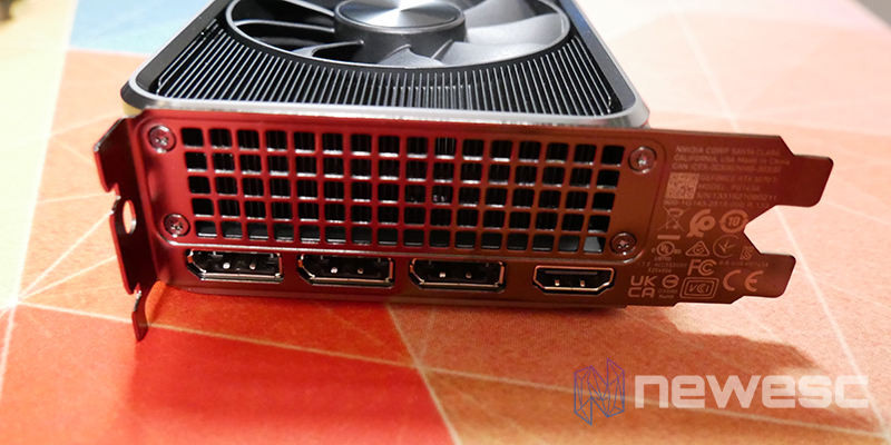 REVIEW NVIDIA RTX 3070Ti FE CONEXIONES EXTERNAS