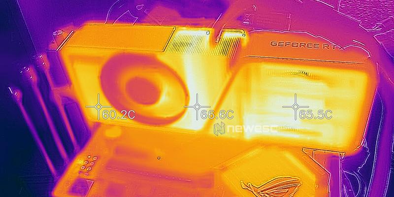 REVIEW NVIDIA RTX 3070Ti FE TEMPERATURAS FRONTAL