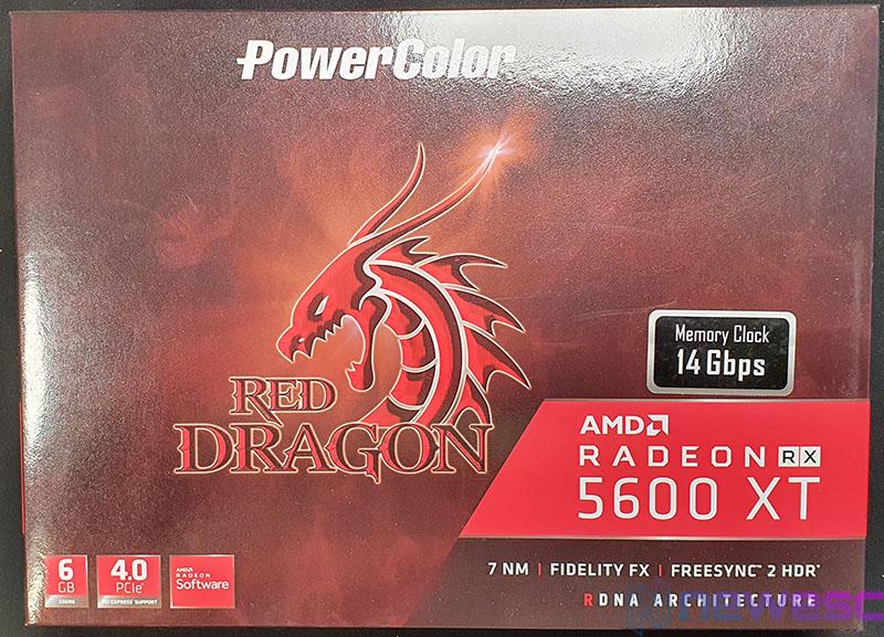 REVIEW POWERCOLOR RED DRAGON 5600XT 6GB 14GBPS CAJA DELANTE