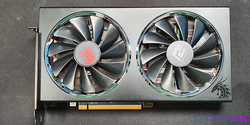REVIEW POWERCOLOR RED DRAGON 5600XT 6GB 14GBPS FRONTAL CON VENTILADORES