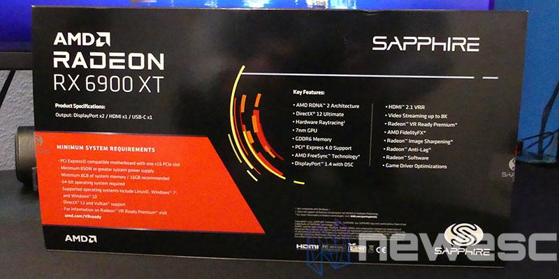 REVIEW SAPPHIRE AMD RADEON RX 6900XT CAJA DETRAS