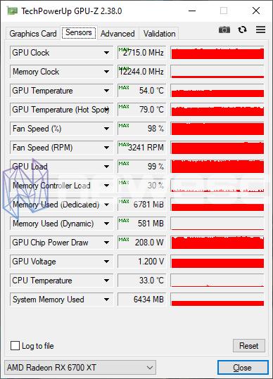 REVIEW SAPPHIRE NITRO RX 6700 XT GAMING OC GPUZ OVERCLOCK