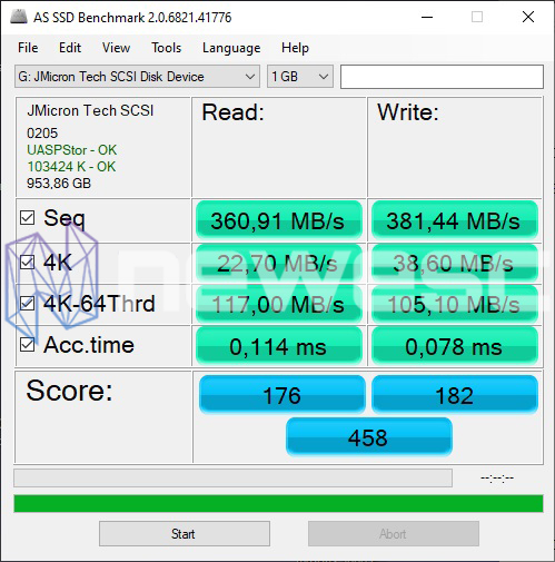 REVIEW TFORCE TOUCH TREASURE 1TB AS SSD