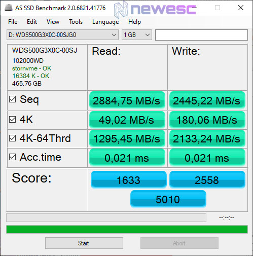 REVIEW WD BLACK SN750 AS SSD