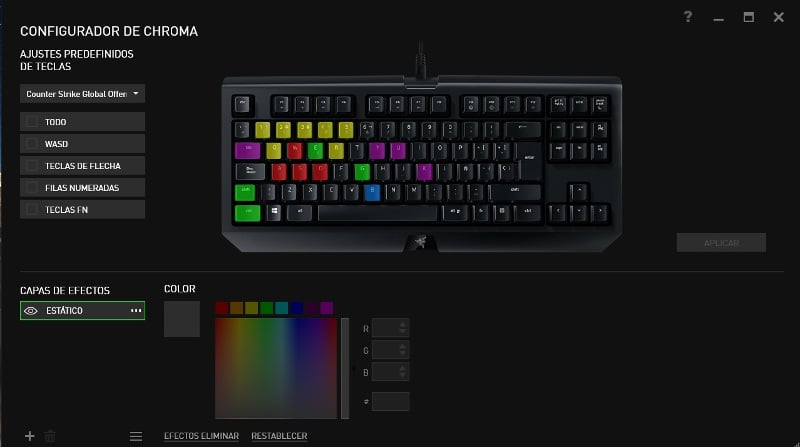 Razer Blackwidow Tournament Edition chroma v2 synapse1