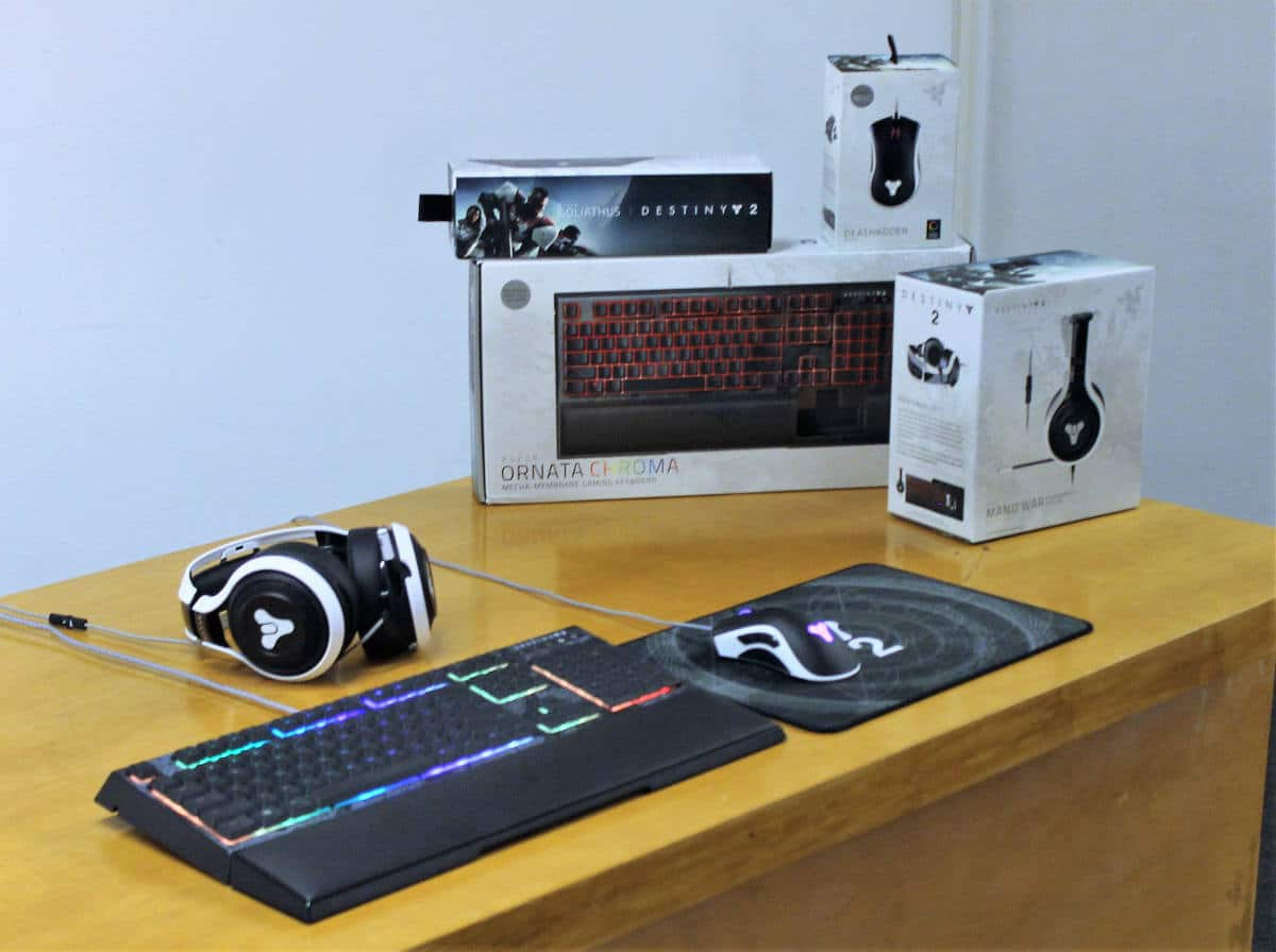 Razer Man o war, ornata y deathadder Destiny 2 pack