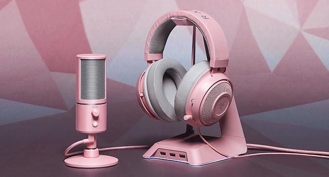 Razer Quartz Microfono y base para auriculares