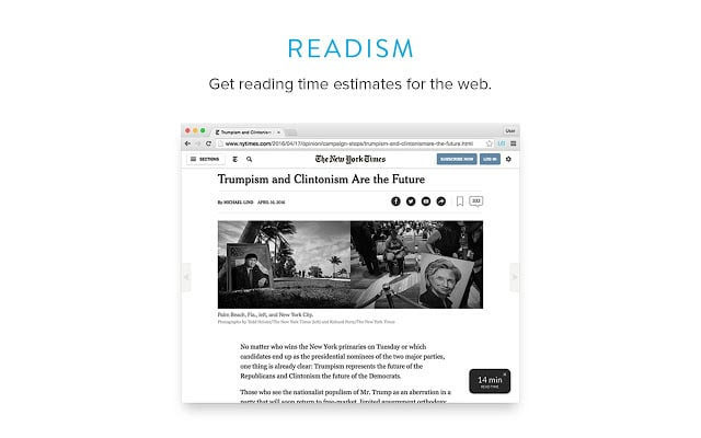 Readism Plugin para Chrome