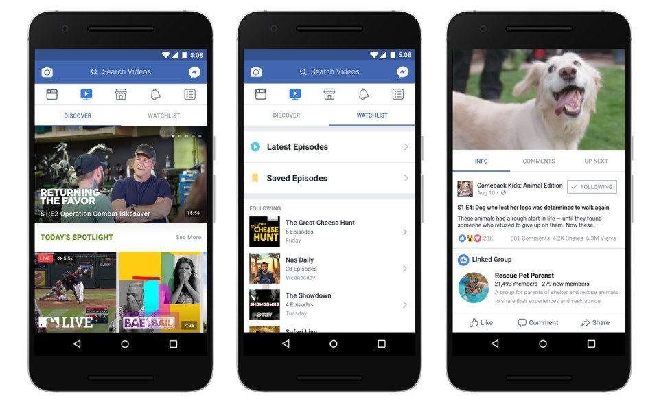 Rediseñan la plataforma de video de Facebook