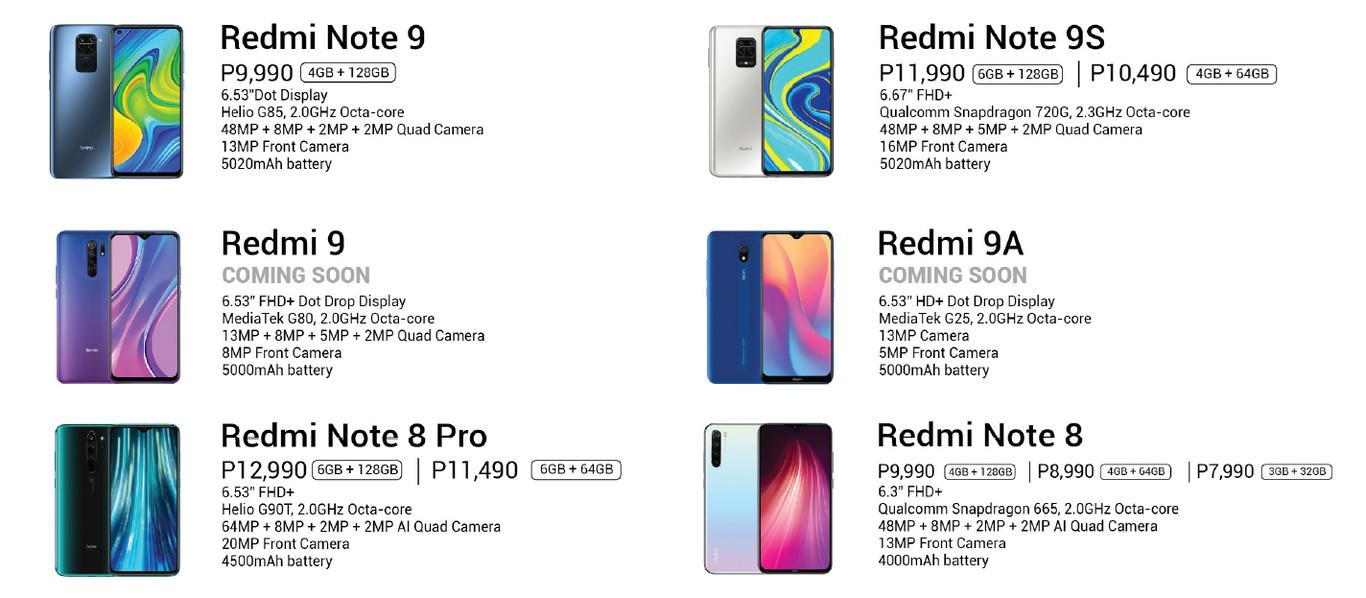 Redmi 9a aparece en catalogo