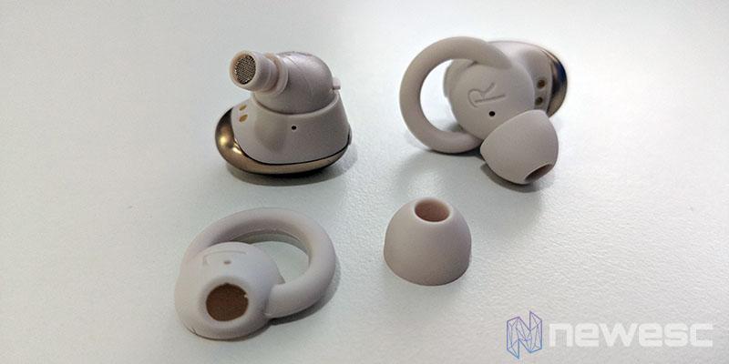 Review 1More True Wireless EarBuds diseño y almohadillas