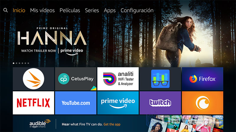 Review Amazon Fire Stick 4K pantalla principal