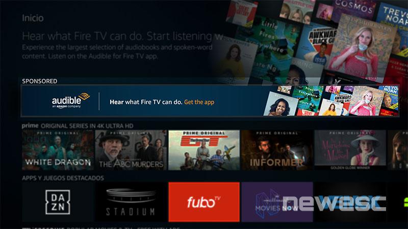 Review Amazon Fire Stick 4K publicidad
