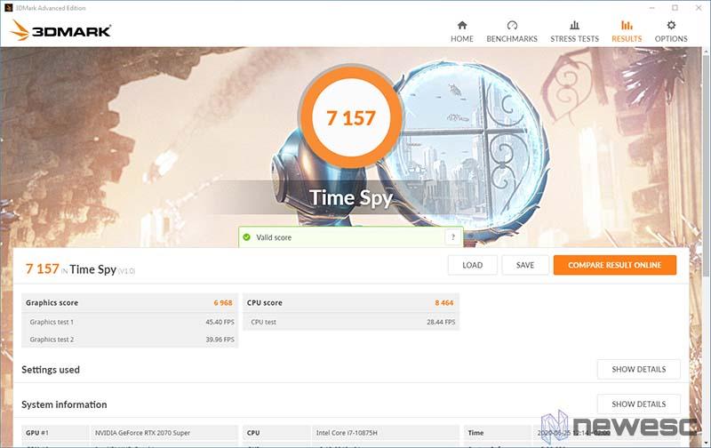 Review Aorus 17G TimeSpy