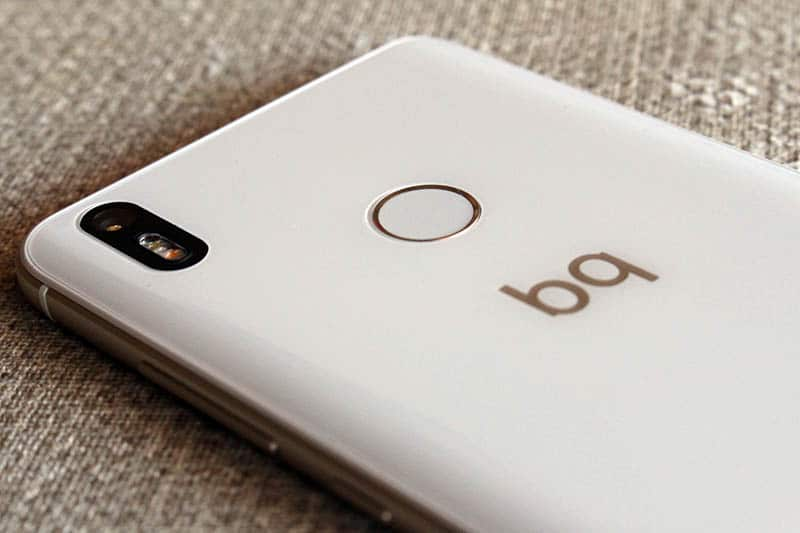 Review BQ Aquaris X Pro NewEsc lector de huellas