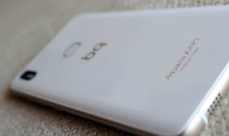 Review BQ Aquaris X Pro NewEsc trasera