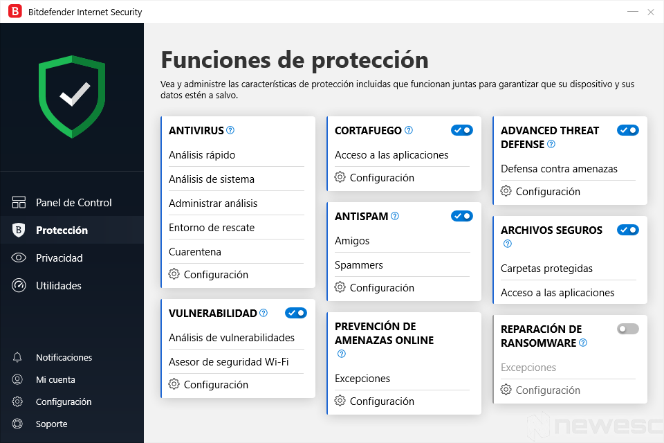 Review Bitdefender Internet Security Protección
