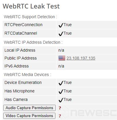 Review CyberGhost VPN pruebas de seguridad webRTC