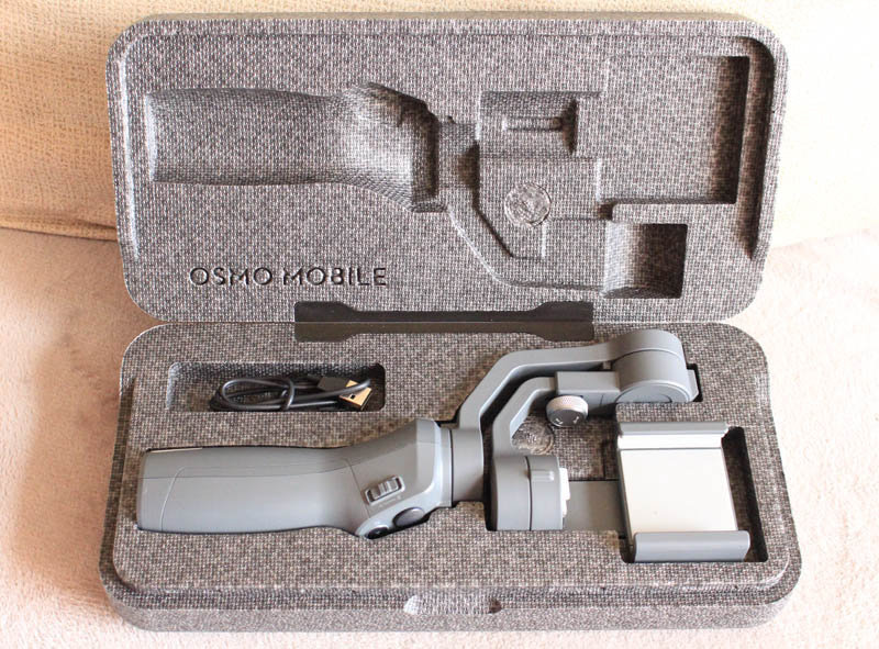 Review DJI Osmo Mobile 2 NewEsc caja
