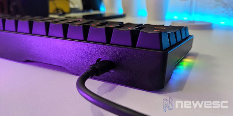 Review Drevo Calibur V2 Conexión USB C