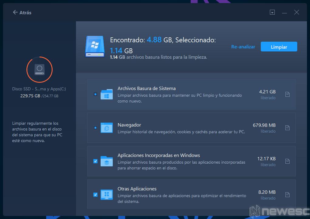 Review EaseUS Todo PCTrans Limpiar sistema 2