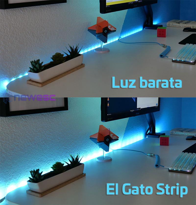 Review ElGato Light Strip Antes y Despues