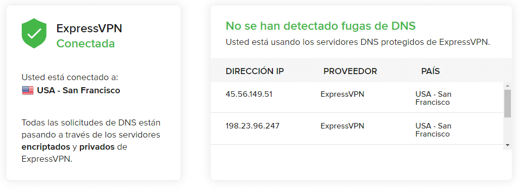 Review ExpressVPN Fugas de DNS