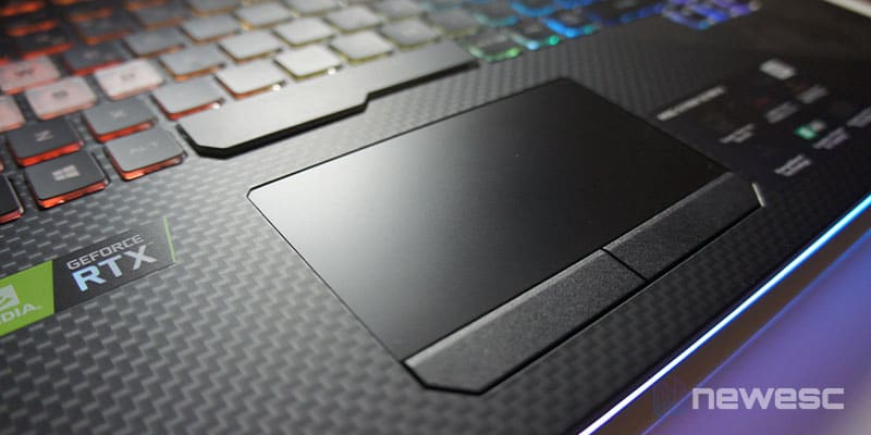 Review GL504GW - Trackpad