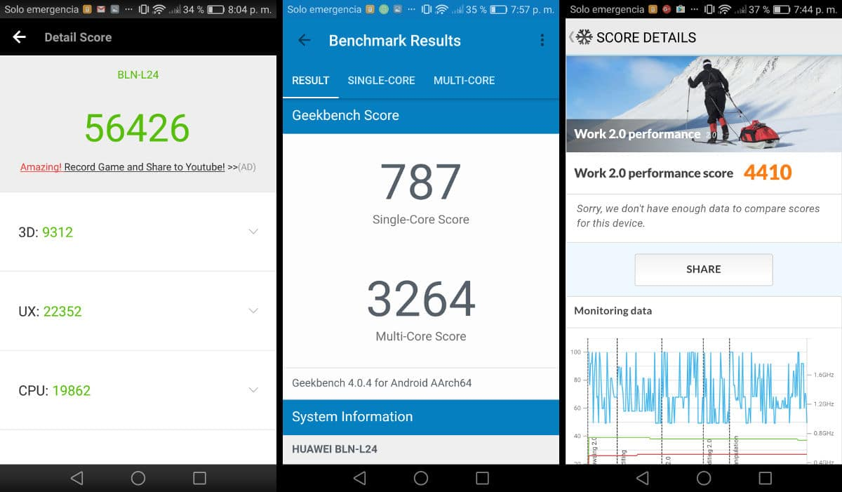 Review Honor 6X Benchmarks