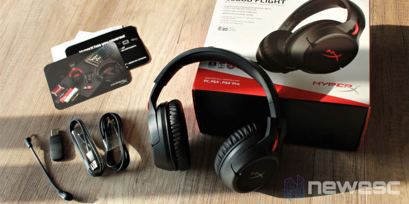 Review Hyper X Cloud Flight Componentes