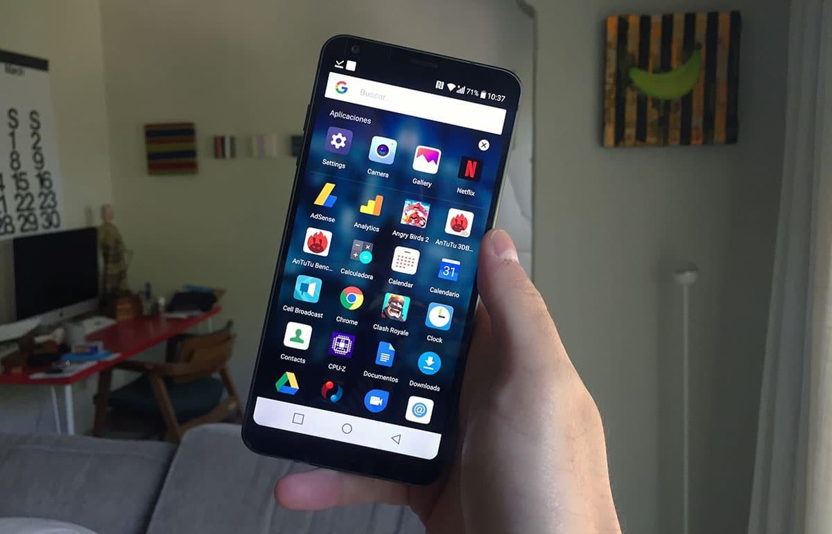 Review LG G6 - Apps y caja de aplicaciones