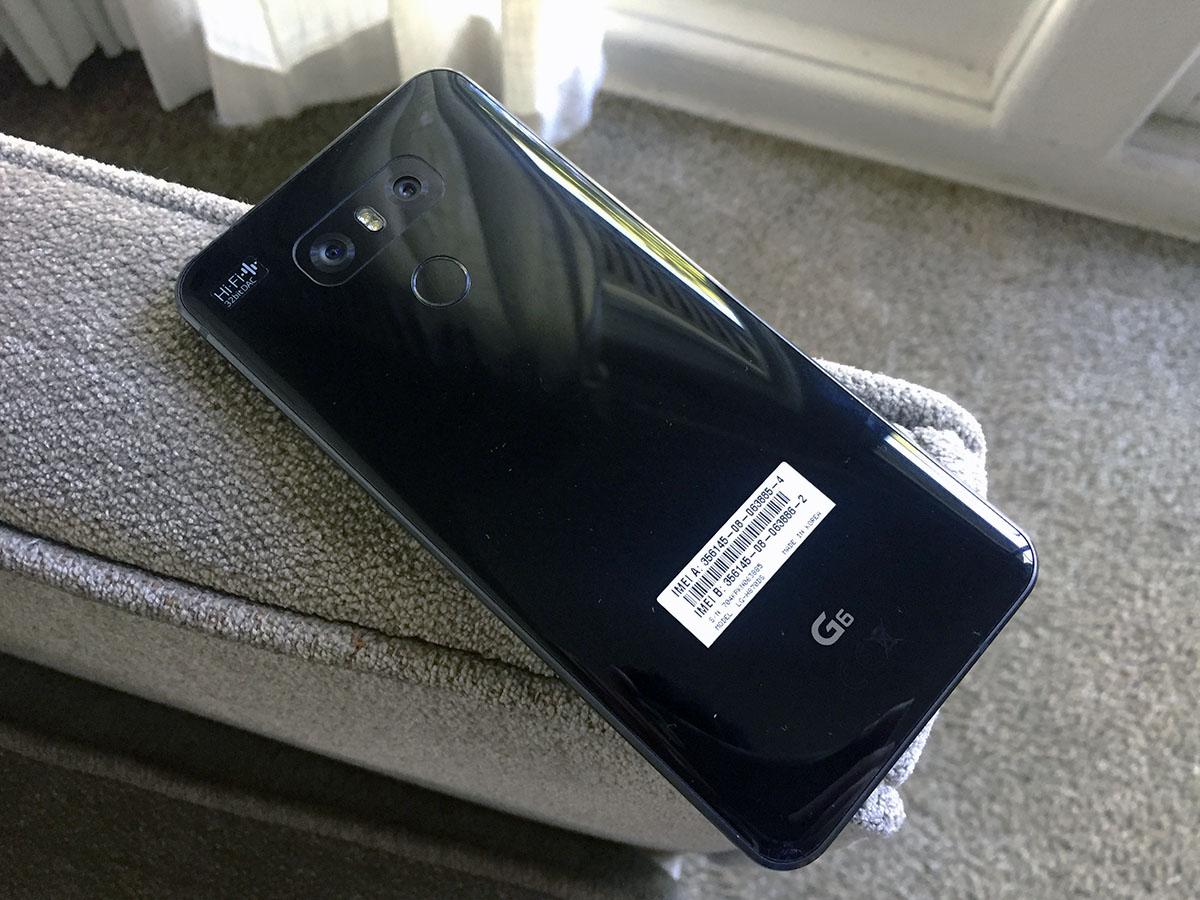 Review LG G6 - Carcasa trasera