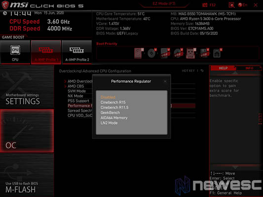 Review MSI B550 Tomahawk Bios 2