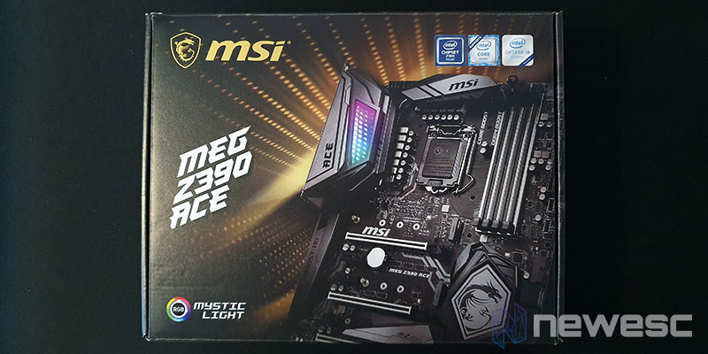 Review MSI Z390 ACE embalaje