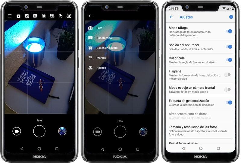 Review Nokia X5 app de cámara