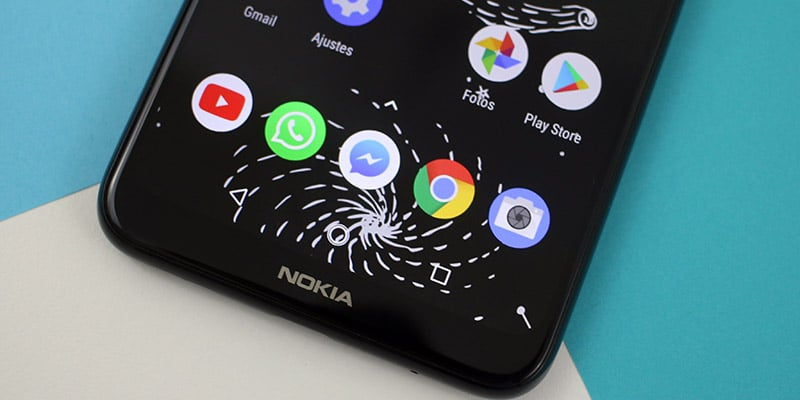 Review Nokia X5 pantalla inferior