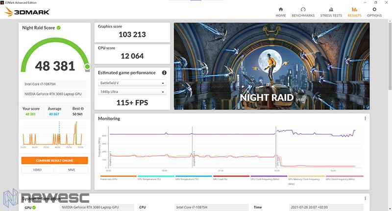 Review Razer Blade 15 Advanced NightRaid