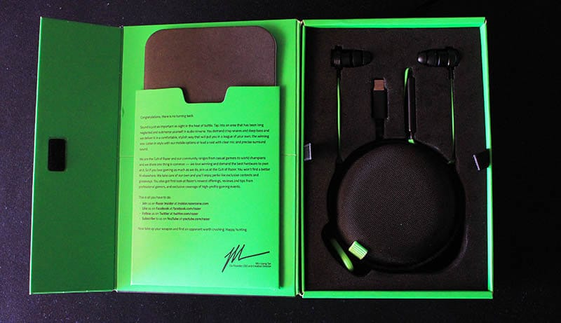 Review Razer Hammerhead USB-C NewEsc packaging