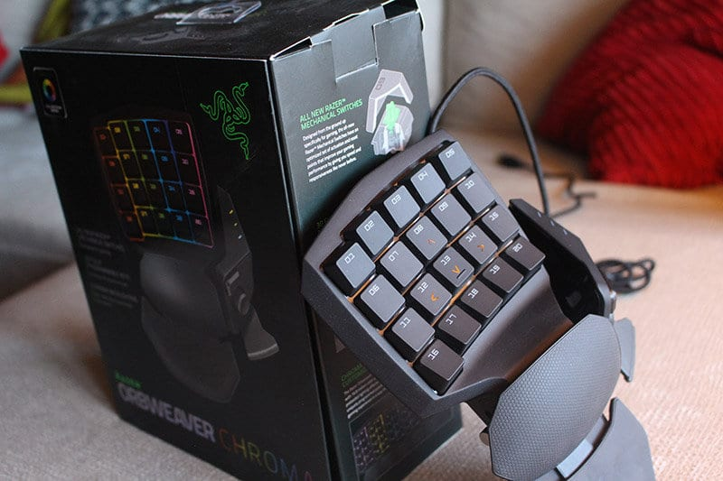 Review Razer Orbweaver NewEsc packaging