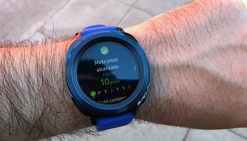 Review Samsung Gear Sport pisos subidos