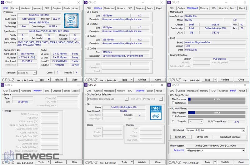 Review Shuttle XPC Nano CPUZ